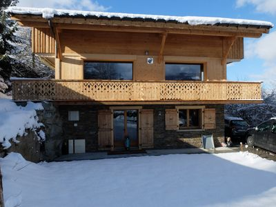 Photo for Beautiful Chalet Comfortable and spacious full equipped 3 minutes from Megève