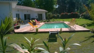 Photo for Villa facing south, between lake and ocean beaches. Heated pool, sleeps 2 to 12