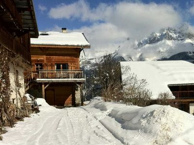 Photo for Pretty cottage 4 **** with fireplace in the mountain hamlet of Mont Blanc