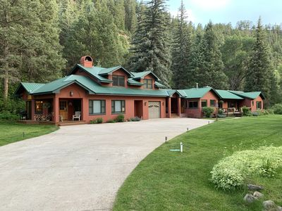"Photo for ""Best of Durango"" Secluded, 600 feet of riverfront, park-like setting"