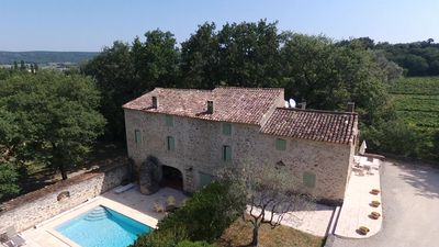 Photo for Provençal farmhouse with character, swimming pool, near Grignan, for 9 pers.