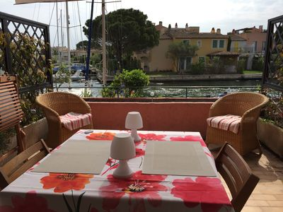 Photo for 2 rooms with large terrace in port grimaud