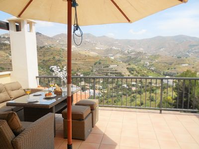 Relax on the lovely terrace with stunning views