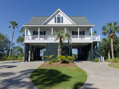 Photo for Just Us - Beautiful Marsh Views, Easy Beach Access, Screened Porch