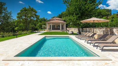 Photo for Stone villa with a private pool and panoramic view