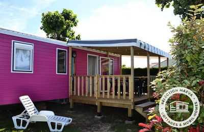 Photo for Camping Bel Air ***** - Maeva Camping - Mobil Home Authentic 3 Rooms 4/5 People