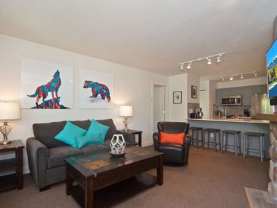 Photo for TOP FLOOR with MOUNTAIN Views; HEART of Whistler! Great Value + Location