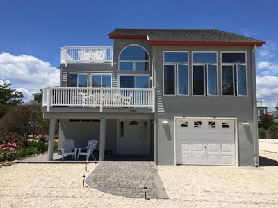 Photo for Newly Renovated Beach Escape - 1 House Off Beach & Water Views! Sleeps 10