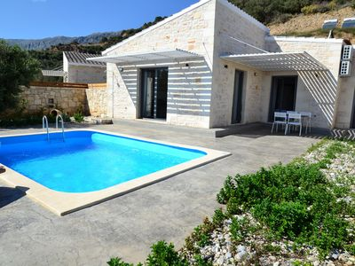 Photo for Pyrgos 1 Incredible sea view,Private pool, Tavern