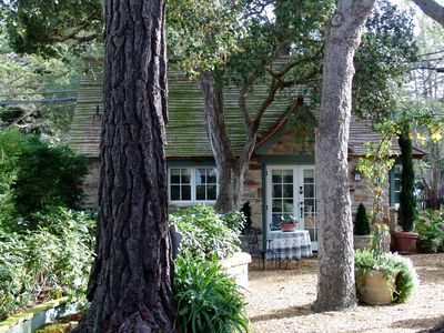 """Photo for PRISTINE CARMEL """"COMSTOCK INSPIRED"""" STONE COTTAGE EASY STROLL TO VILLAGE & BEACH"""