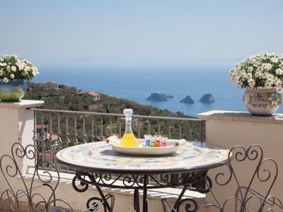 Photo for Villa Aurora - in Sorrento coast, with sea view, pool, garden, parking, WiFi