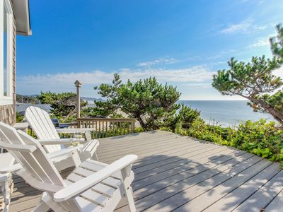 Photo for Perfect oceanfront beach getaway with amazing views - walk to the beach!