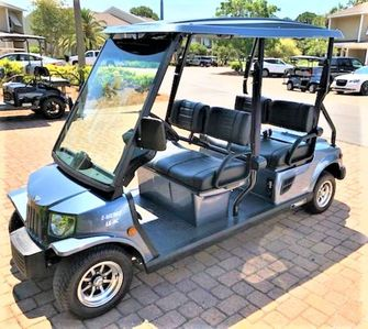 New golf cart included with rental!