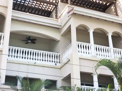 Grande Bay - with our 2 bedroom 40 feet from the water, you get two balconies.