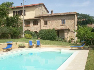 Photo for La Doppia, charming apartment, sleeps 4+1 with pool in Moltepulciano