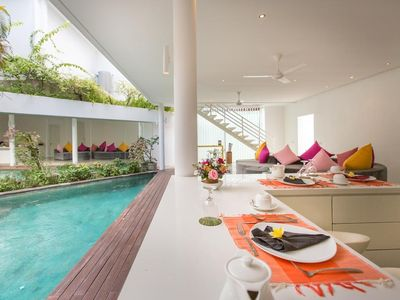 Photo for 3 BR LSRN Modern Villa Central Seminyak