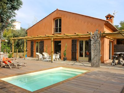 Photo for Near Gigaro, farmhouse with pool and garden 250 m from the beach