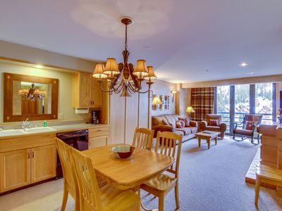 Photo for Ski-in/ski-out condo w/ access to a shared heated pool/hot tub, & mountain views