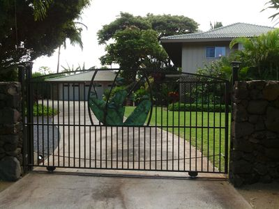 Our estate offers complete privacy with its lava rock wall and gated entry.