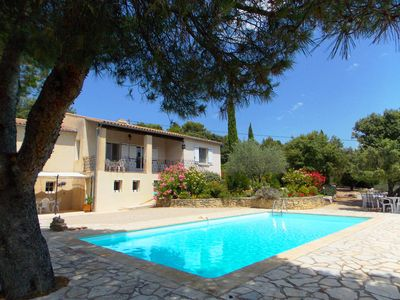 Photo for Villa with Pool, green surroundings, stunning views, quiet, near Village
