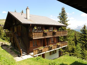 Perfectly located chalet on the Bettermalp with view of the Rhone Valley.