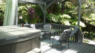 Hang out on the lanai, at the table or in the hot tub.