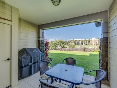 Photo for Gorgeous garden view resort condo with private lanai, golf nearby, walk to beach *WiFi, BBQ, A/C*