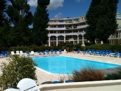 Photo for nice apartment in a residence with heated pool, 300m from the beach