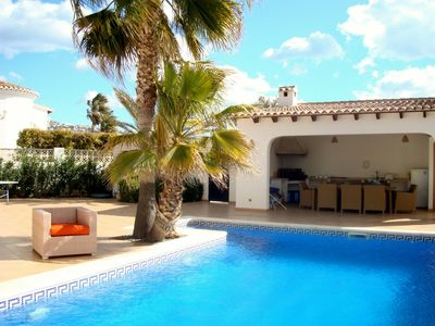 Photo for Casa Tasama is a stunning villa close to Moraira's centre and beaches with views