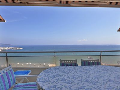 Photo for The most beautiful view over the Le Lavandou Bay! For 4 to 6 people