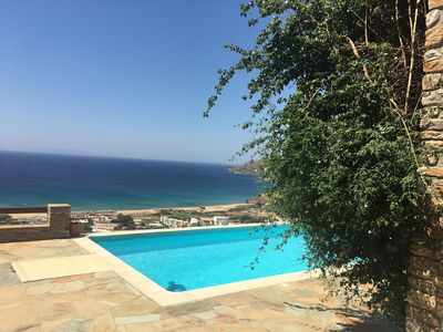 Photo for Luxurious villa, private simming pool, amazing sea views,100 km hiking   paths