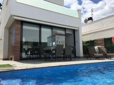 Photo for State of the art luxury Villa private heated pool 3 bed 2 bath. Fully registered
