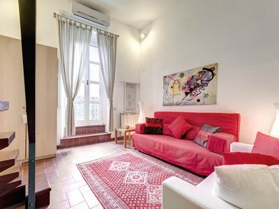 Photo for Scala Trastevere Loft apartment in Trastevere with WiFi, air conditioning & balcony.