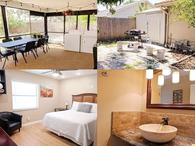 Photo for 3 Bedroom, Private Fenced Yard! Screened Lanai! Fast WiFI! Extra Clean, Modern.