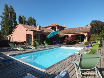 Photo for Villa overlooking the Corsican mountains, swimming pool, 8 people, well equipped