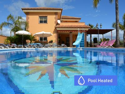 Photo for VILLA WITH LARGE AIR CONDITIONED POOL (14x8), NEAR THE BEACHES AND GOLF WIFI AND BBK