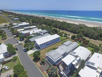 Aerial View - across path from beach