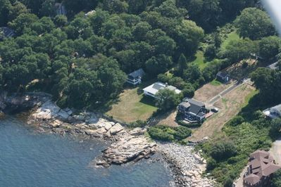 Aerial View - Cottage on Left