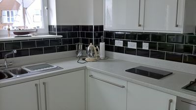 Dishwasher, oven, washing machine, microwave and hob