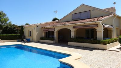 Beautiful villa with large pool in an acre of perfectly manicured gardens.