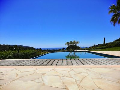 Photo for Villa 7/9 sleeps, SEA VIEW, 300 m from the Beach, Infinity pool
