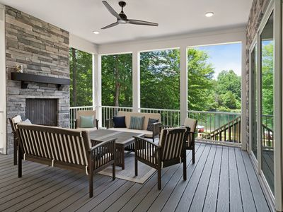 Photo for New lakefront home w/ private beach, dock & firepit!