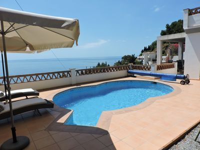 Photo for Villa with stunning sea views and private pool