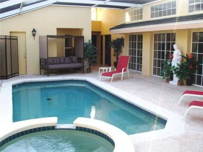 Photo for Unique Family Villa with Private Pool and Jacuzzi Spa Minutes from Disney World