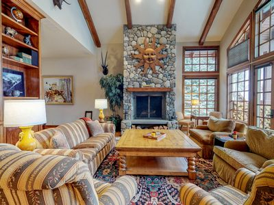 Photo for NEW LISTING! Luxurious townhome w/private hot tub & rec room - walk to ski lifts