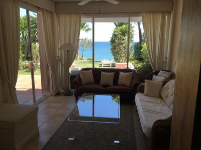 Photo for Beach fronted house. Direct access to the beach