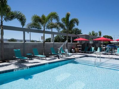 Photo for BEAUTIFULLY UPDATED King Suite by Orlando Airport. Pool, Gym & Free Breakfast!
