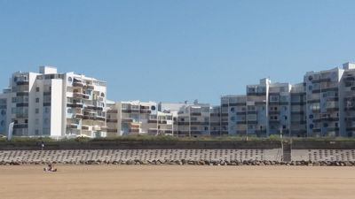 Photo for Large beach apartment facing the sea