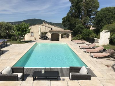 Photo for France - Sainte Maxime, 4 bedrooms, 3 WC, 2 bathrooms, table tennis, ovn Pool