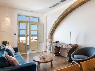 Photo for DEMOPHON ONE-BEDROOM LUXURY APARTMENT SEA FRONT, KOLYMBARI HARBOUR, CHANIA
